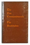 The Ten Commandments & The Beatitudes,  by Irma Stewart
